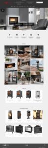 Сайт-каталог для магазина каминов